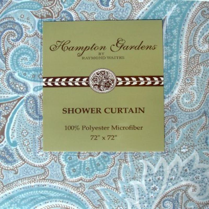 Raymond Waites Hampton Gardens Blue Brown Floral Paisley ...