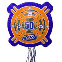 Nerf Birthday Pinata, Pull String, 20 x 20in, 1ct