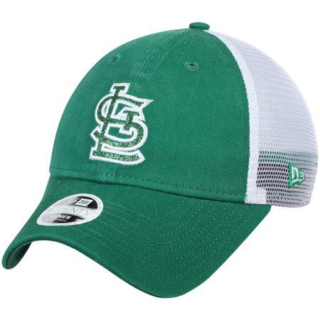 save off 8858b 3e977 St. Louis Cardinals New Era Women s Trucker Shine St. Patrick s Day ...