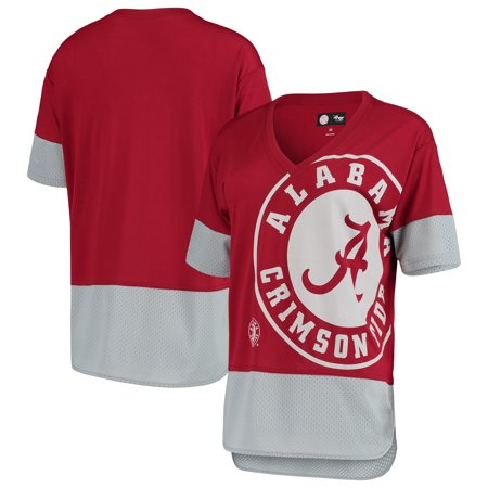 Alabama Crimson Tide G-III 4Her by Carl Banks Women's 1st Place V-Neck T-Shirt - Crimson/Gray ()