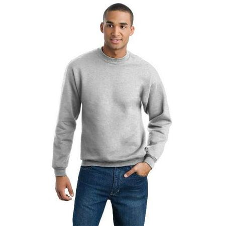 Jerzees 4662M Mens Super Sweats Crewneck Sweatshirt  44  Ash   Small