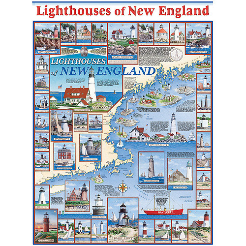 White Mountain Puzzles Lighthouses of New England Puzzle, 1000 Pieces