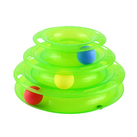 Three Level Entertaining Ball Tower Cat Toy
