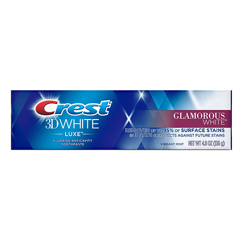 Crest 3D White Luxe Glamorous White Toothpaste, Vibrant Mint, 4.8 Oz, 2 Pack
