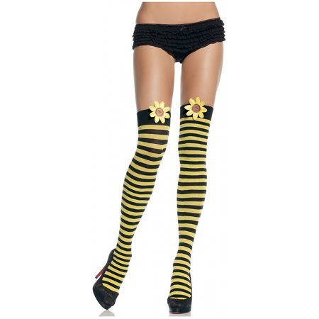 Striped Thigh Highs with Daisy. Adult Costume (Women's Daisy Duke Costumes)
