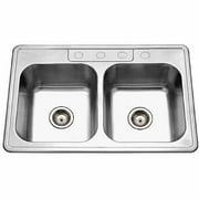 Glowtone 8 in. Deep Double Kitchen Sink
