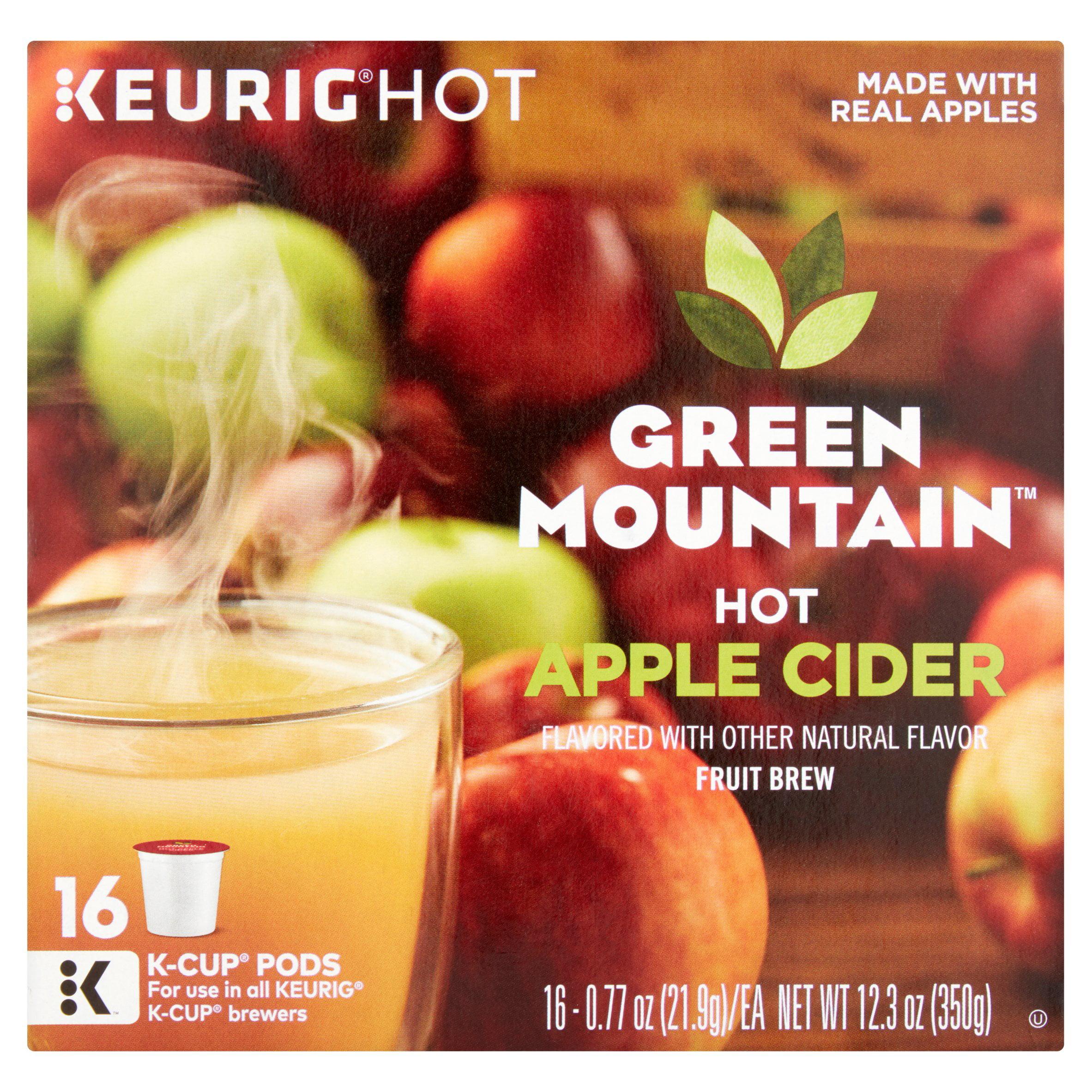 Keurig Hot Green Mountain Hot Apple Cider Fruit Brew K-Cup Pods, 0.77 oz, 16 count
