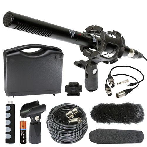 Panasonic HC-V770EG-K Full HD Camcorder External Microphone Vidpro XM-55 13-Piece Professional Video & Broadcast Unidirectional Condenser Microphone Kit