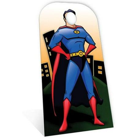 Superhero Stand-in Cardboard Cutout