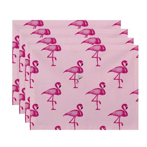 Ivy Bronx Felice Flamingo Martini Placemat (Set of 4)