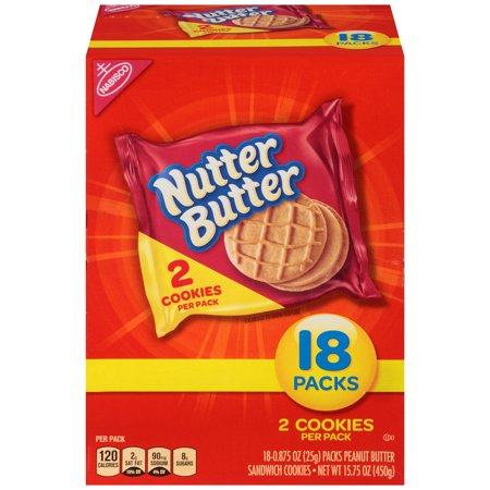 Nabisco Nutter Butter Peanut Butter Sandwich Cookies, 0.875 Oz., 12 Count