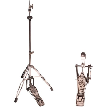 ChromaCast Double Braced Hi Hat Stand and Chain Drive Pedal