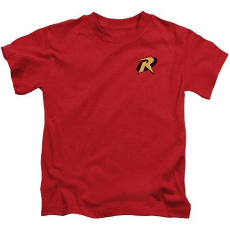 Trevco Batman-Robin Logo - Short Sleeve Juvenile 18-1 Tee - Red, Medium 5-6](Batman And Robin Girls)