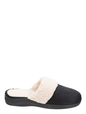 DF by Dearfoams Women's Microfiber Suede Scuff Slippers