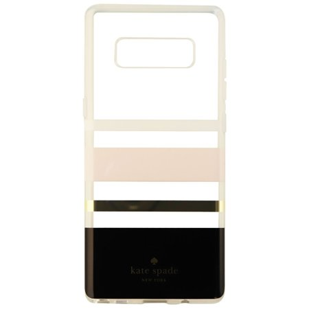 huge discount 277b9 1384f Kate Spade Flexible Hardshell Case for Galaxy Note8 - Pink/Gold/Blk/Clear  Stripe