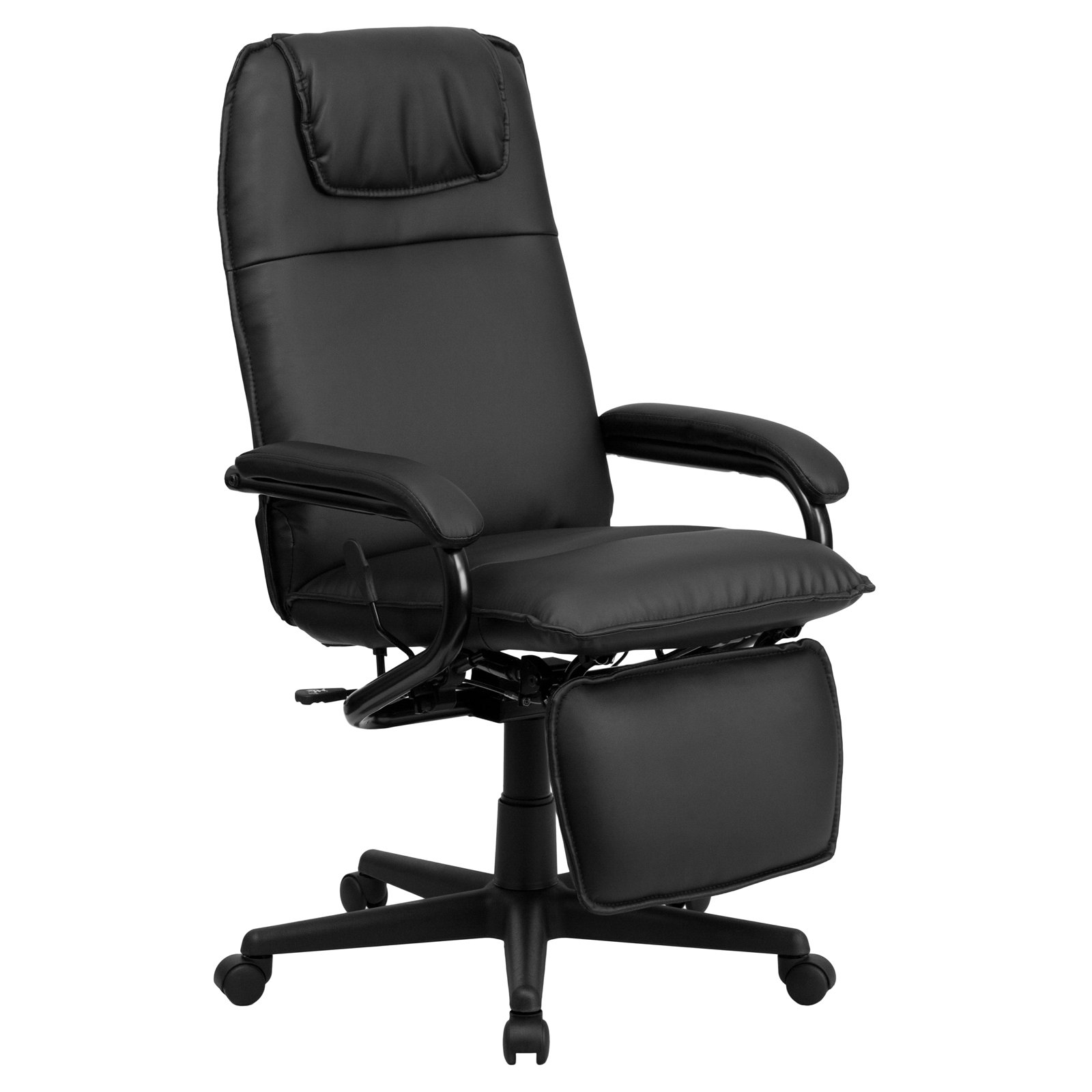 Office Chairs Walmart >> Flash Furniture High Back Leather Executive Reclining Office Chair