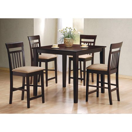 Coaster Cappuccino Counter Height 5pc Dinette Set