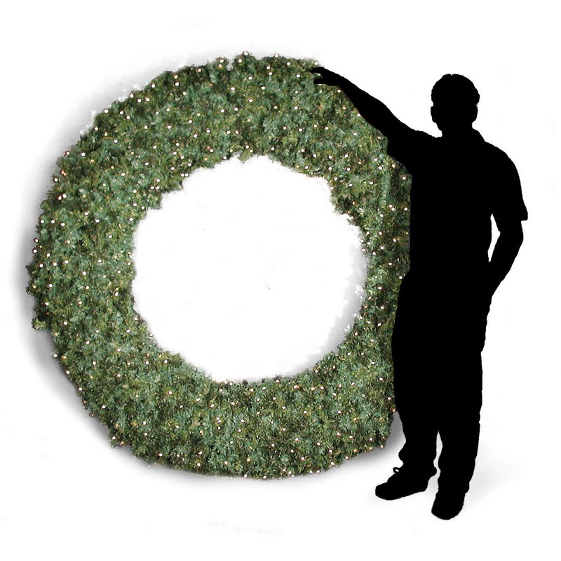 84 in. Pre-lit Commercial Grade Christmas Wreath