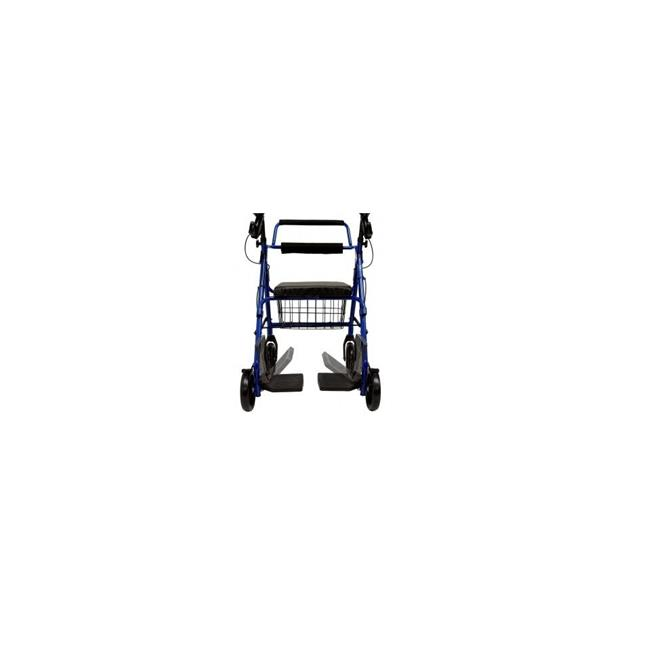 Karman Healthcare R-4602-T-BL 2-in-1 Rollator-Transport chair-Blue
