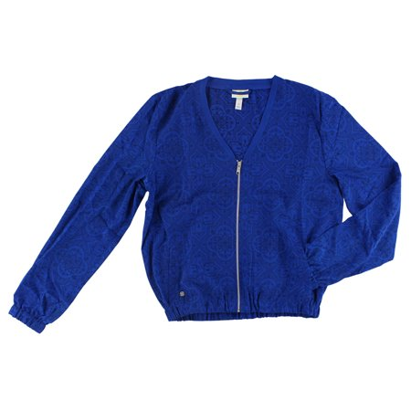Adidas Womens Ornamental Print Blouson Jacket Royal Blue