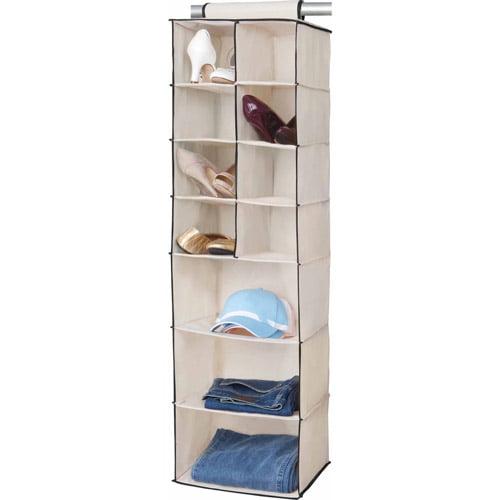 Simplify 8-Pocket Shoe and 3-Shelf Organizer