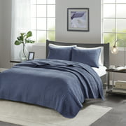 Home Essence Mitchell Reversible Coverlet Set, Twin/Twin XL, Grey
