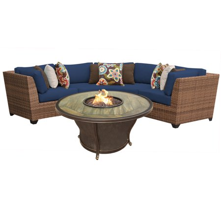 tuscan 4 piece outdoor wicker patio furniture set 04g