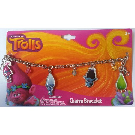 Shih Tzu Bracelets - DreamWorks Charm Bracelet with Metal Charms, Trolls Metal Charm Bracelet By Trolls Ship from US