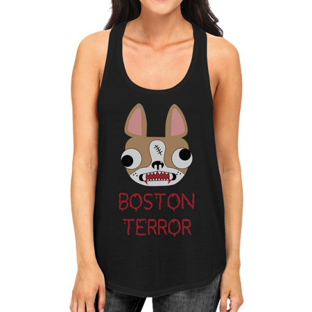 Halloween Weather Boston (Boston Terror Terrier Halloween Tank Top Womens Graphic Tanks)