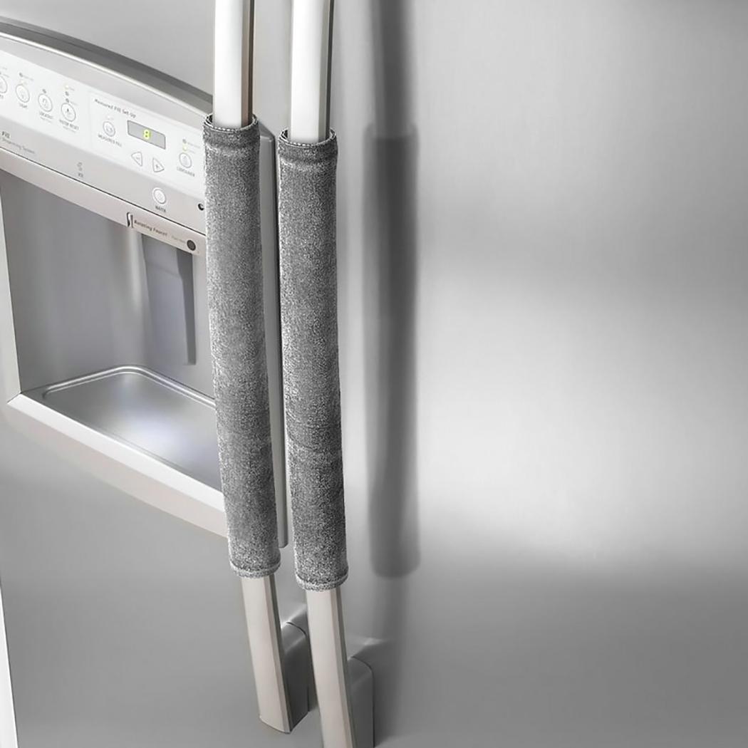 2PCS Refrigerator Handle Cover, Justdolife Anti-slip Refrigerator Door Protector Kitchen Appliance Decor 15.7'' x 4.3''