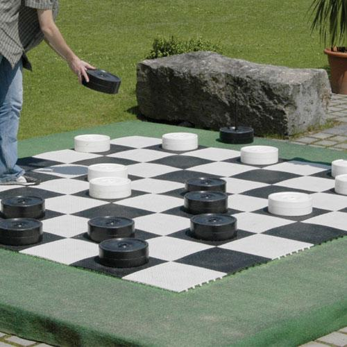 Kettler Giant Chess and Checker Game Board 10 x 10 Feet, Black and White by Kettler
