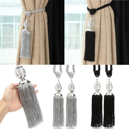 2Pcs New Curtain Tieback Luxury Tassel Beaded Holdbacks Drapes Tie Back Decor](Tassels For Sale)
