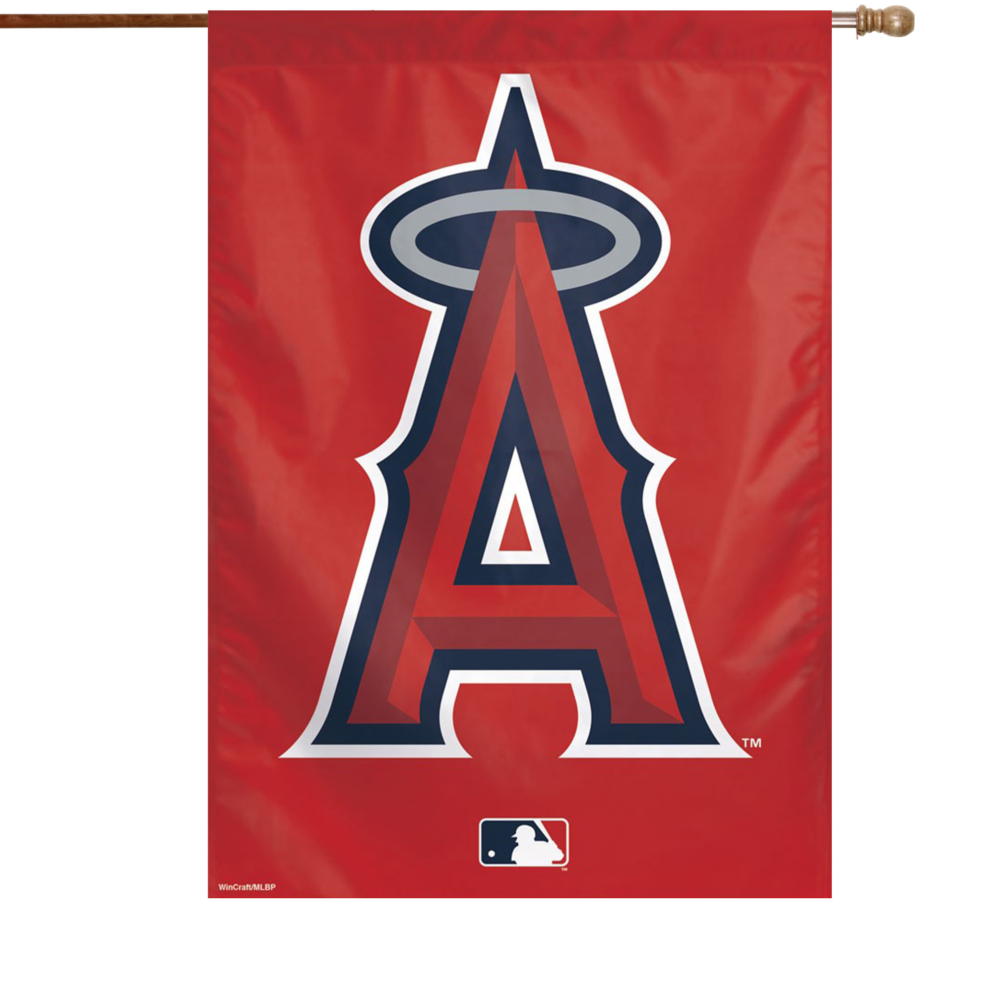"""Los Angeles Angels WinCraft 28"""" x 40"""" Primary Logo Single-Sided Vertical Banner - No Size"""
