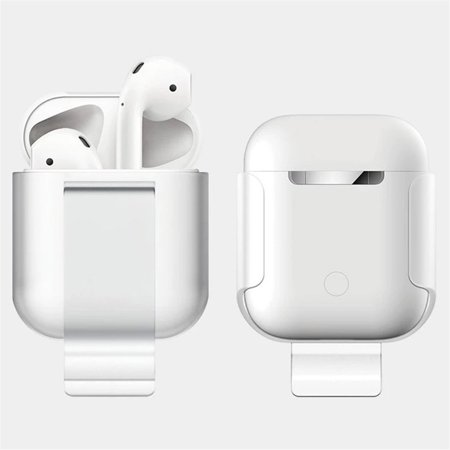 Transparent Snap Pouch - Clip Case For Apple Airpods Proof Protector Cover Pouch Anti Lost True Wireless Earphone Accessories Protective Wireless bluetooth Cover