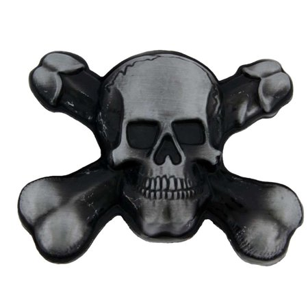 Skull Skeleton Crossbones Belt Buckle Tattoo Gothic Halloween Costume Dress