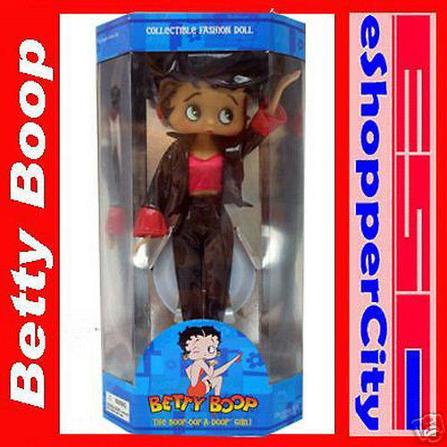 Betty Boop 12 Doll  Biker w/ Doll Stand, New Gift Cartoon TV By Precious Kids