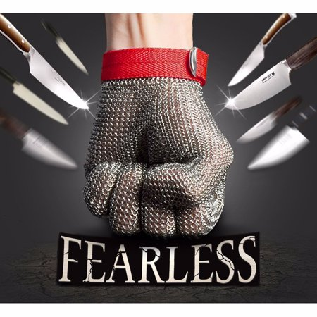 2PCS Safety Cut Proof Stab Resistant Stainless Steel Metal Mesh Butcher Glove High Performance Level 5 Protection