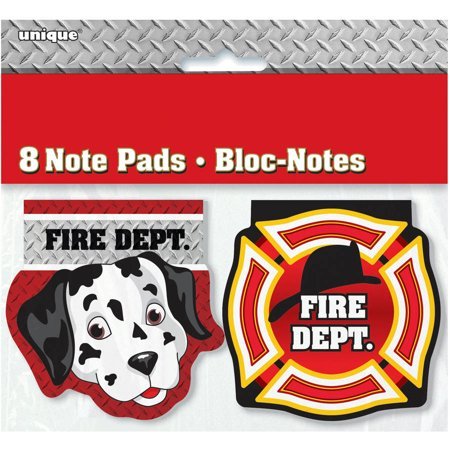 Firefighter Birthday Notepad Party Favors, 8ct