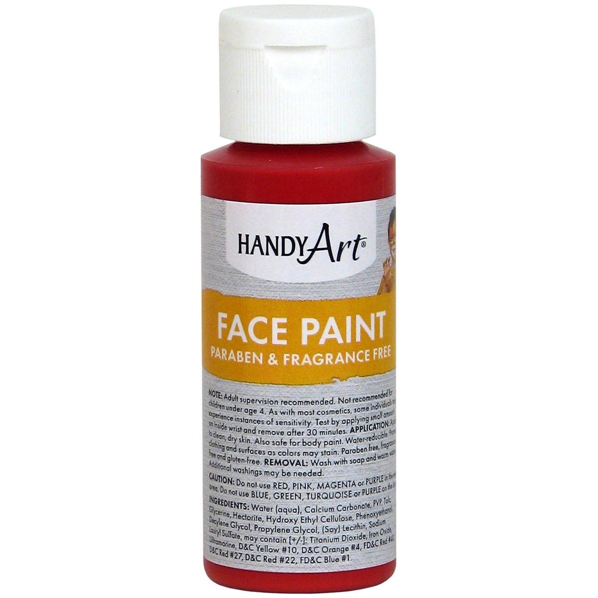 Handy Art Face Paint 2oz-Red