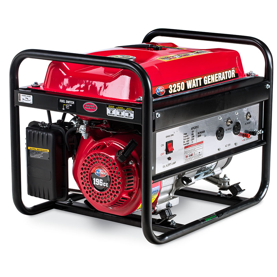 All Power America 3250 Watt Generator APG3012, 3250W Gas Portable Generator for Home Use Power Backup, RV Standby, EPA Certified