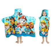 PAW Patrol Kids Bath and Beach Hooded Towel Wrap, 100% Cotton, Blue