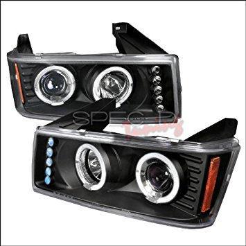 Spec-D Tuning Chevrolet Colorado 2004 2005 2006 2007 2008 LED Halo Projector Headlights - - 2008 Chevrolet Colorado Grille