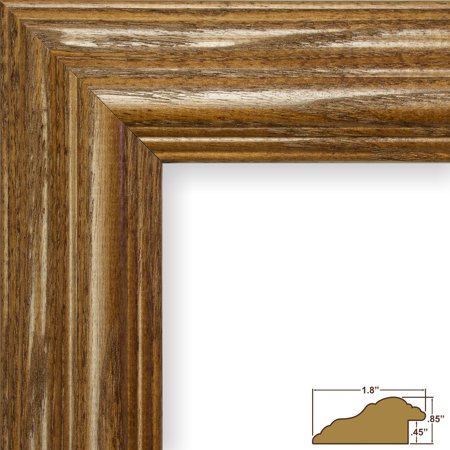 Craig Frames Wiltshire 151, Traditional Brown Stained Wood Picture ...