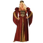 Womens Plus Renaissance Maiden Costume