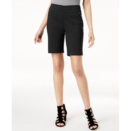 INC International Concepts  - Curvy-Fit Stud-Trim Bermuda Shorts - Regular -