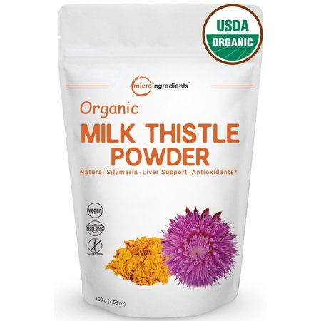 Ribose 100 Grams Powder - Premium Pure Organic Milk Thistle Extract Powder 100 grams, Highly Concentrated To 80% Silymarin, Detox & Protect Liver Health