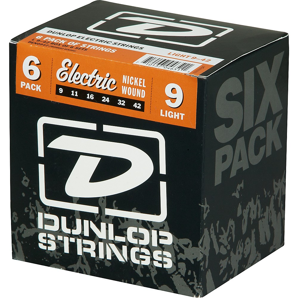 Dunlop Nickel Plated Steel Electric Guitar Strings Light 6-Pack