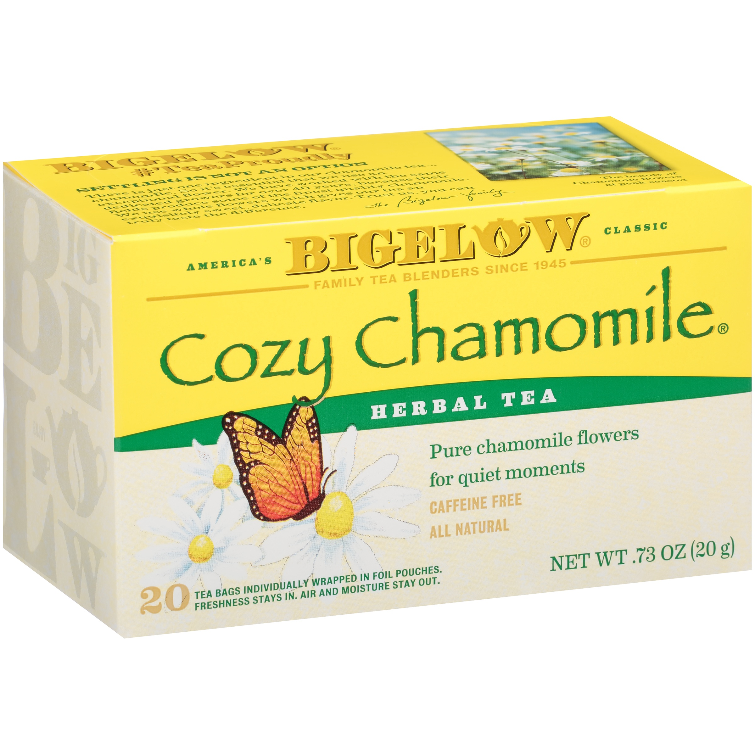 (3 Pack) Bigelow® Cozy Chamomile® Herbal Tea 0.73 oz. Box
