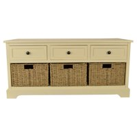 Montgomery Entryway Storage Bench with Baskets, Multiple Finishes