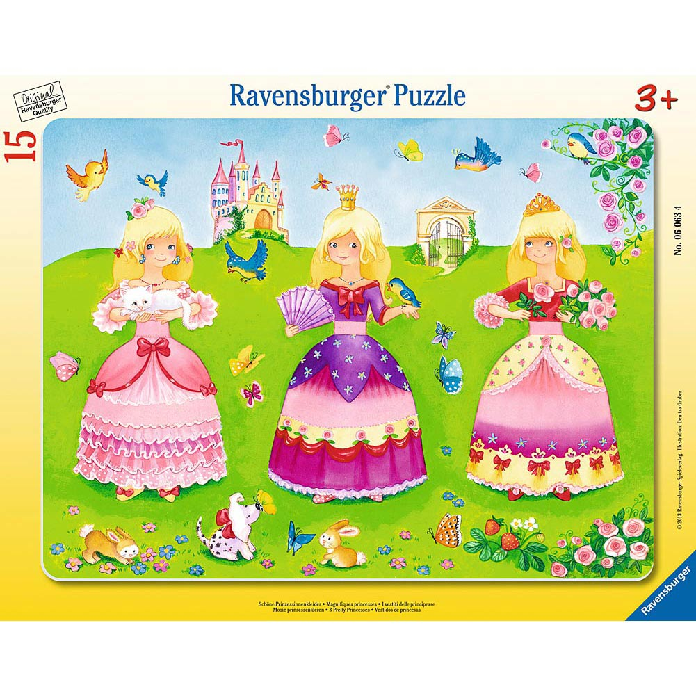 3 Pretty Princesses 15 Piece Puzzle
